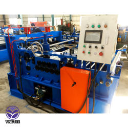 Straighten and cutting machine with slitting