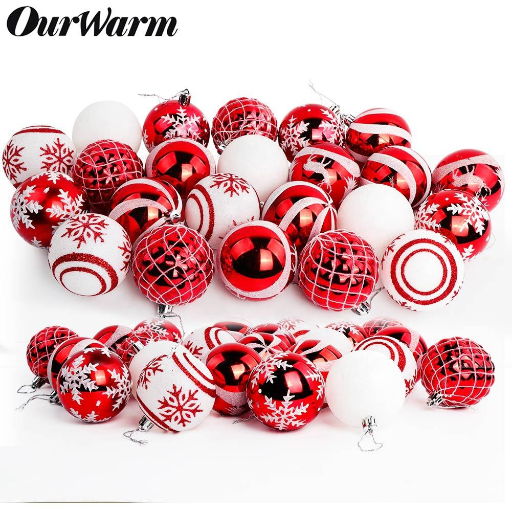 OurWarm 2020 Personalize baubles Christmas Tree Decoration Balls ornaments Bolas Adornos De Navidad