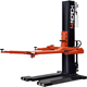 Portable hydraulic single post car lift with manual unlocking
