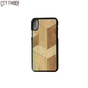 2019 new design hot selling creative cell phone cover with 3D puzzle wood skin