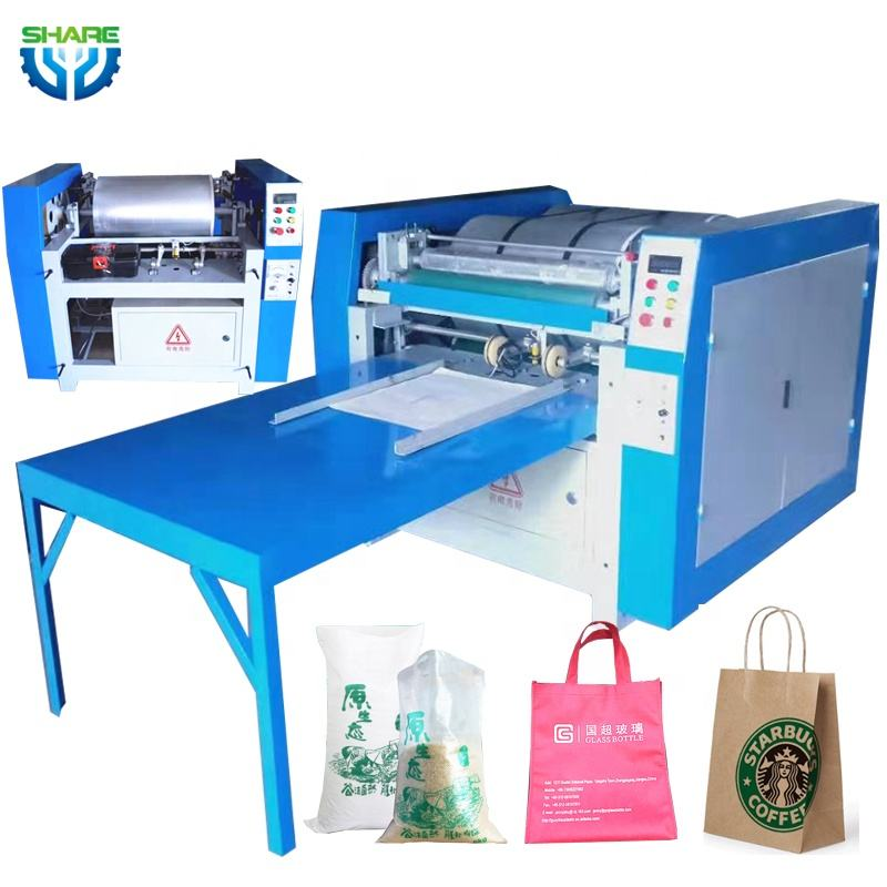 polythene jute pp mylar plastic Offset Tote Cloth Non Woven Paper coffee bag bags Printing Printer Machine Price small for Sale