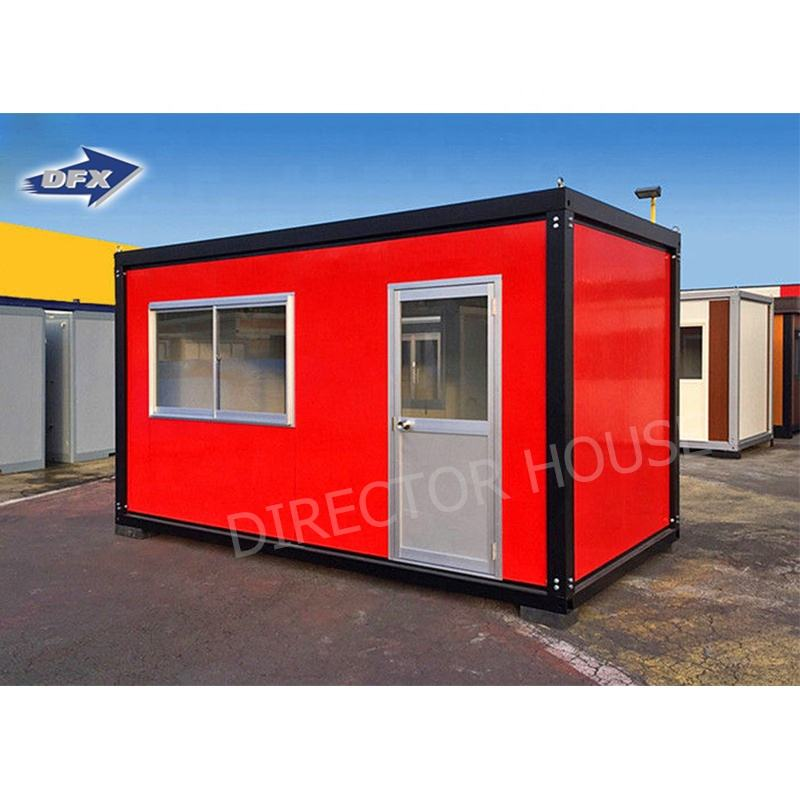 Flat packing shipping container house