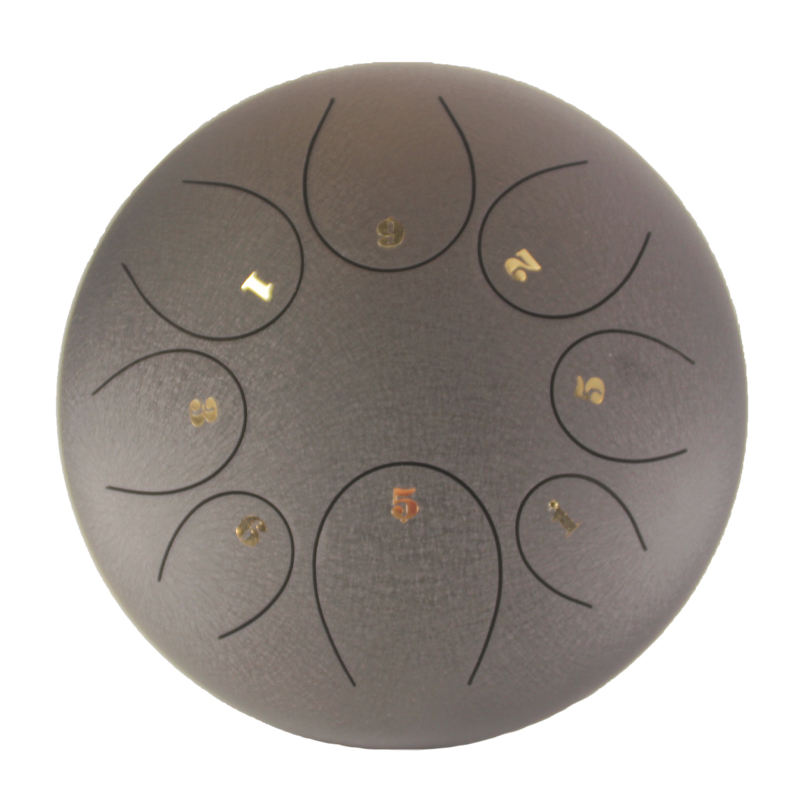 Wholesale Black 6 Inch Steel Tongue Percussion Drum Handpan Chakra Drum Free Bag Mallets Steel Tongue Drum
