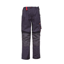 Mens Custom Black Cargo Clothes Pants With Knee Pad 6 Pocket Wear Work Pants