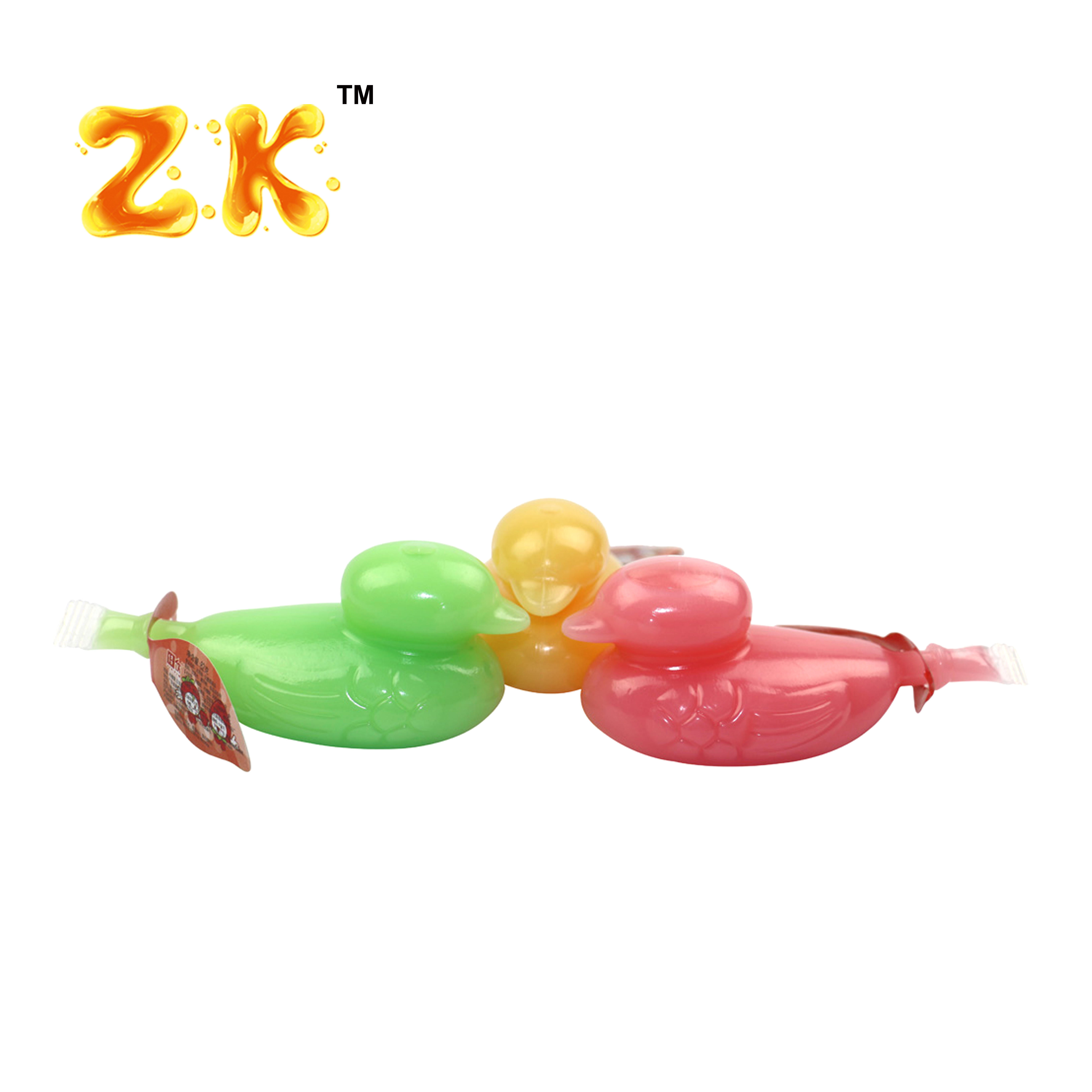 Hot selling 85g rubber duck shape jelly