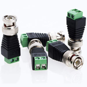 12V DC Coax CAT5 Video Adapter Plug BNC Male female Connector for Led Strip Lights CCTV Camera Accessories