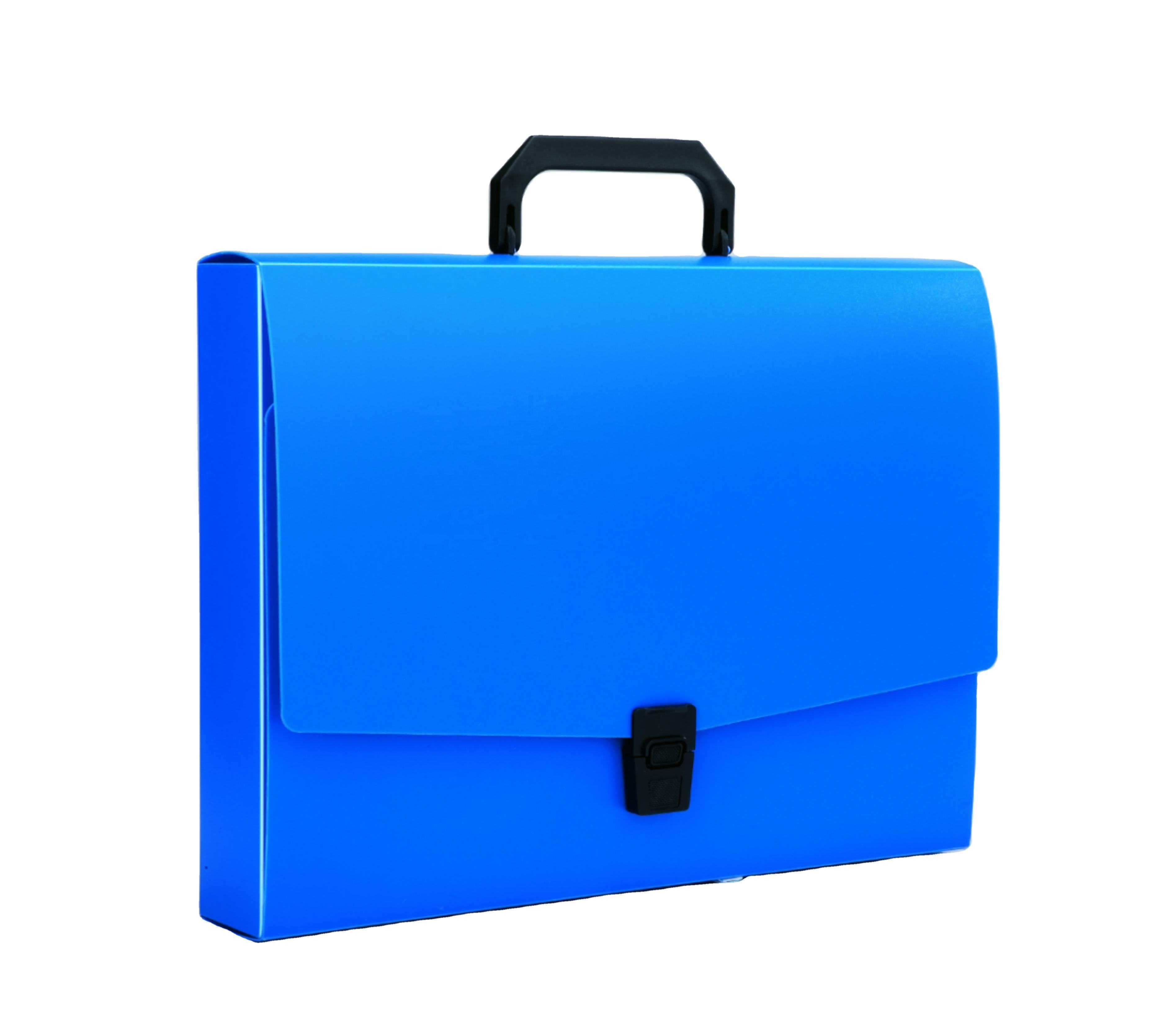 A4 Portable Plastic Portfolio File Case Waterproof Document Case With Handle