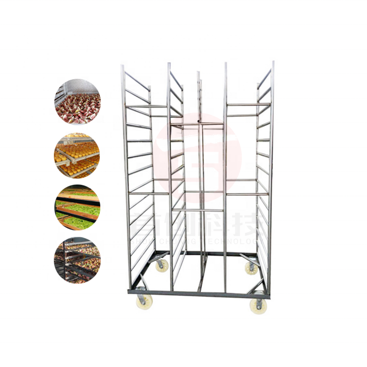 China Supplier Drying Racks Trolley For Screen Printer Drying Racks Customized Stainless Steel Baking Drying Trolley