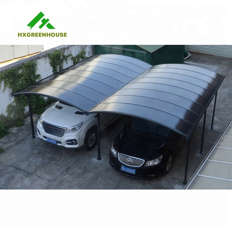 2 post car awning lowes outdoor double metal designs modern poland en aluminium pergola carport with arched polycarbonate roof