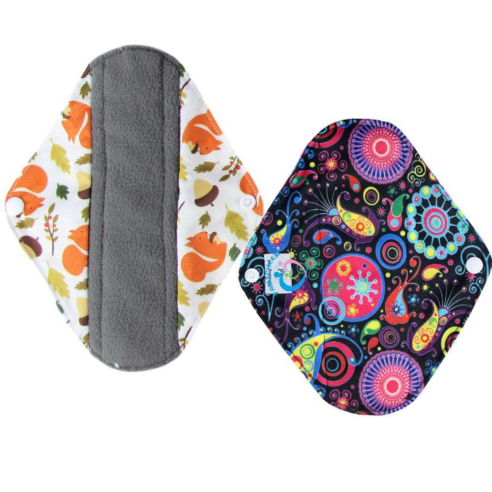 Amazing Bamboo Charcoal Heavy Flow Menstrual Sanitary Cloth Pads Feminine Hygiene
