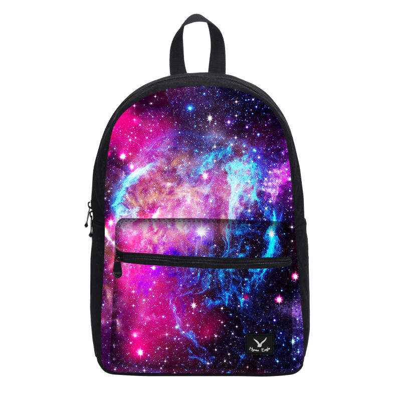Galaxy Design Rucksack Backpack Canvas Shoulder Bag Space Girls School Pack