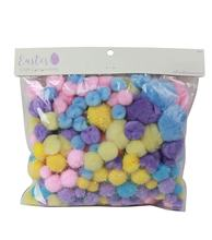 300pcs Easter Day Craft Componets/assorted colored poms