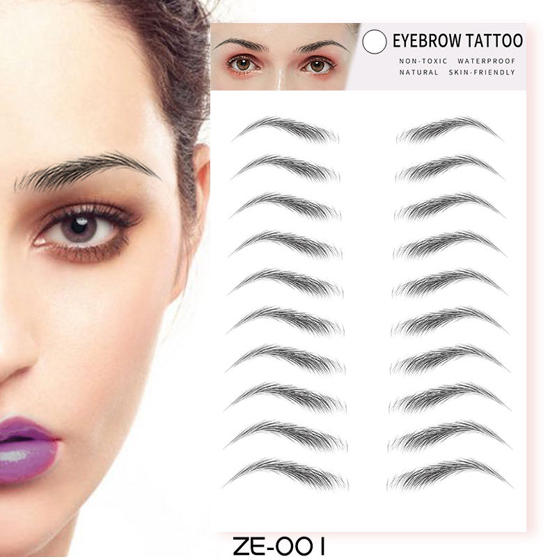 2020 New arrival 4D imitation ecological Water Transfer Temporary Eyebrow Tattoo Sticker