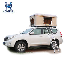 HOMFUL Travelling Foldable Car Roof Top Tent Hard Shell with free ladder