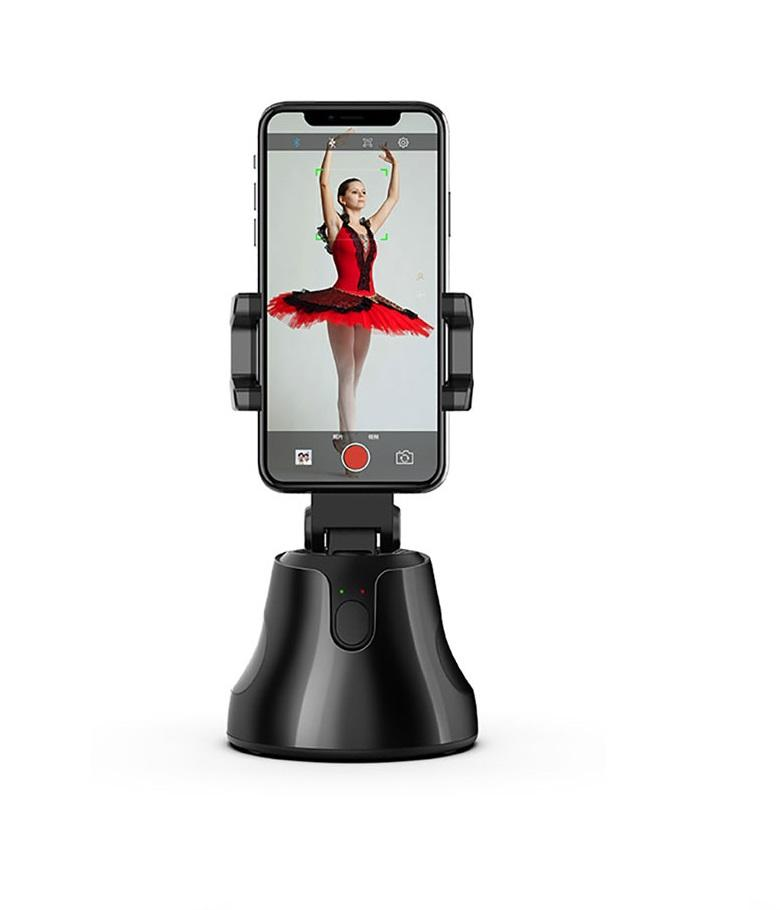 360 rotation auto vlog live video shooting tracking object phone tripod holder adjust automatic mini self for smart phone