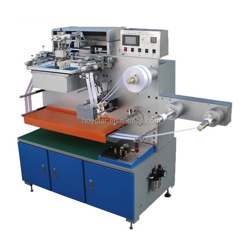 roll to roll silkprinting machine with screen print dryer