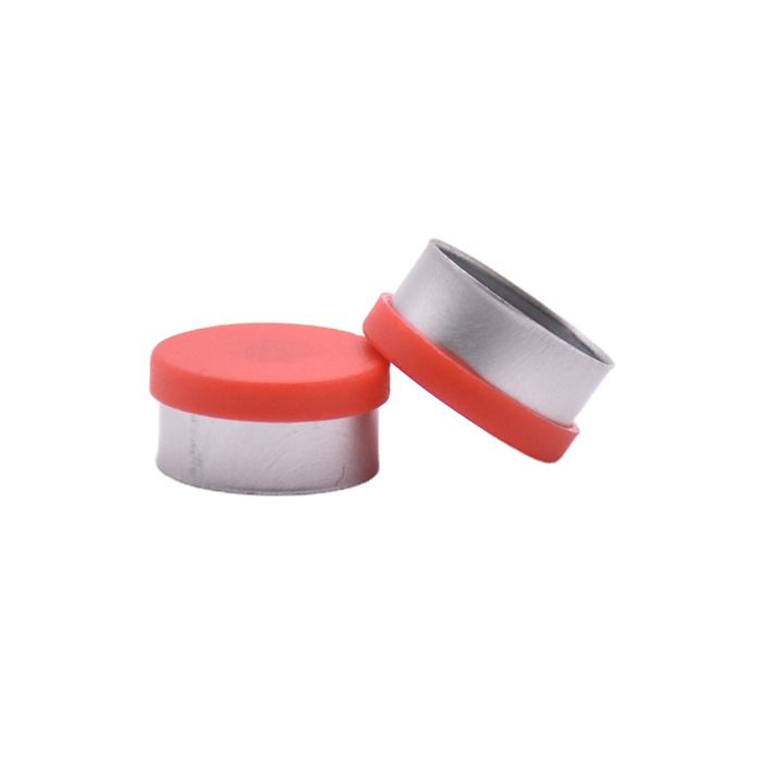 Red Aluminum Plastic Combination Cover Flip Off Vial Cap for Injection Medicinal Aluminium vial lid for Infusion Bottle