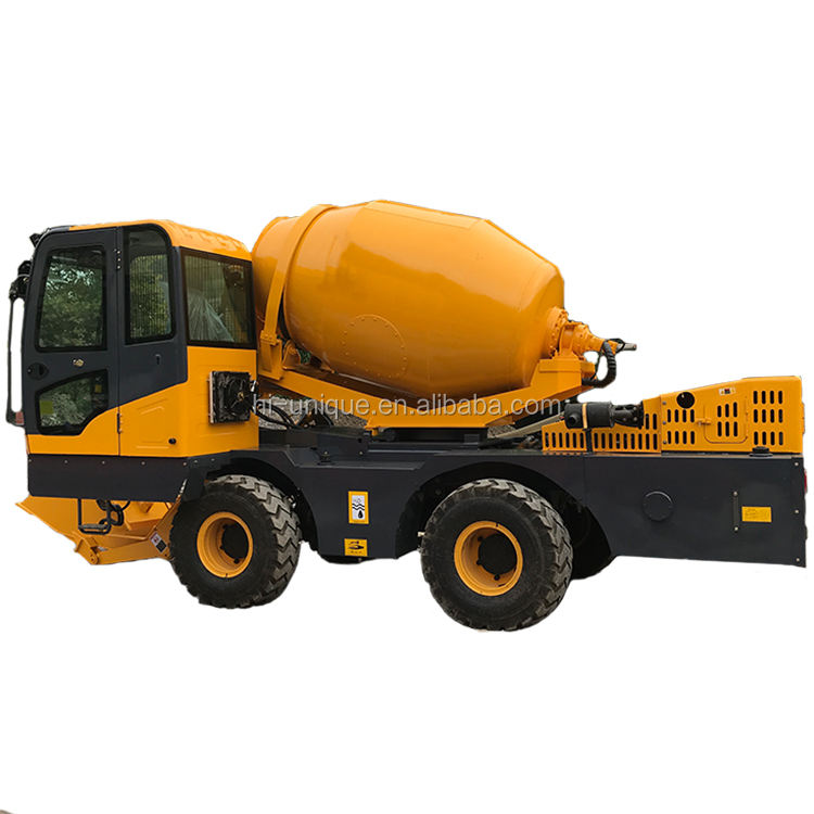 Good quality factory directly mobile concrete mixer truck with loader