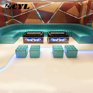 Factory promotion karaoke bar KTV disco DJ couch living room pu leather furniture game sofa