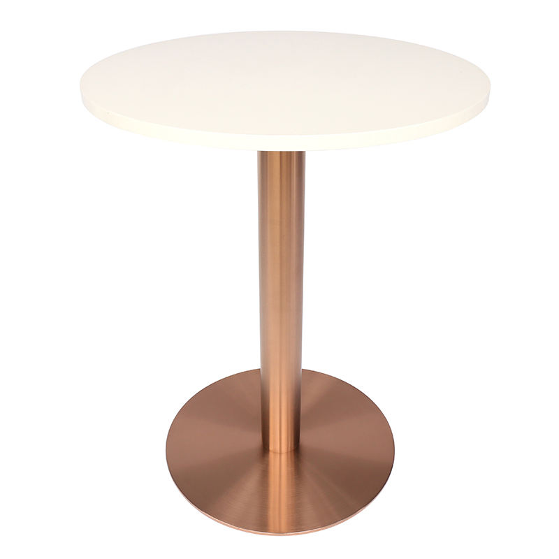 Wholesale unique brushed coffee chrome brass marble stainless steel dining table base for restaurant