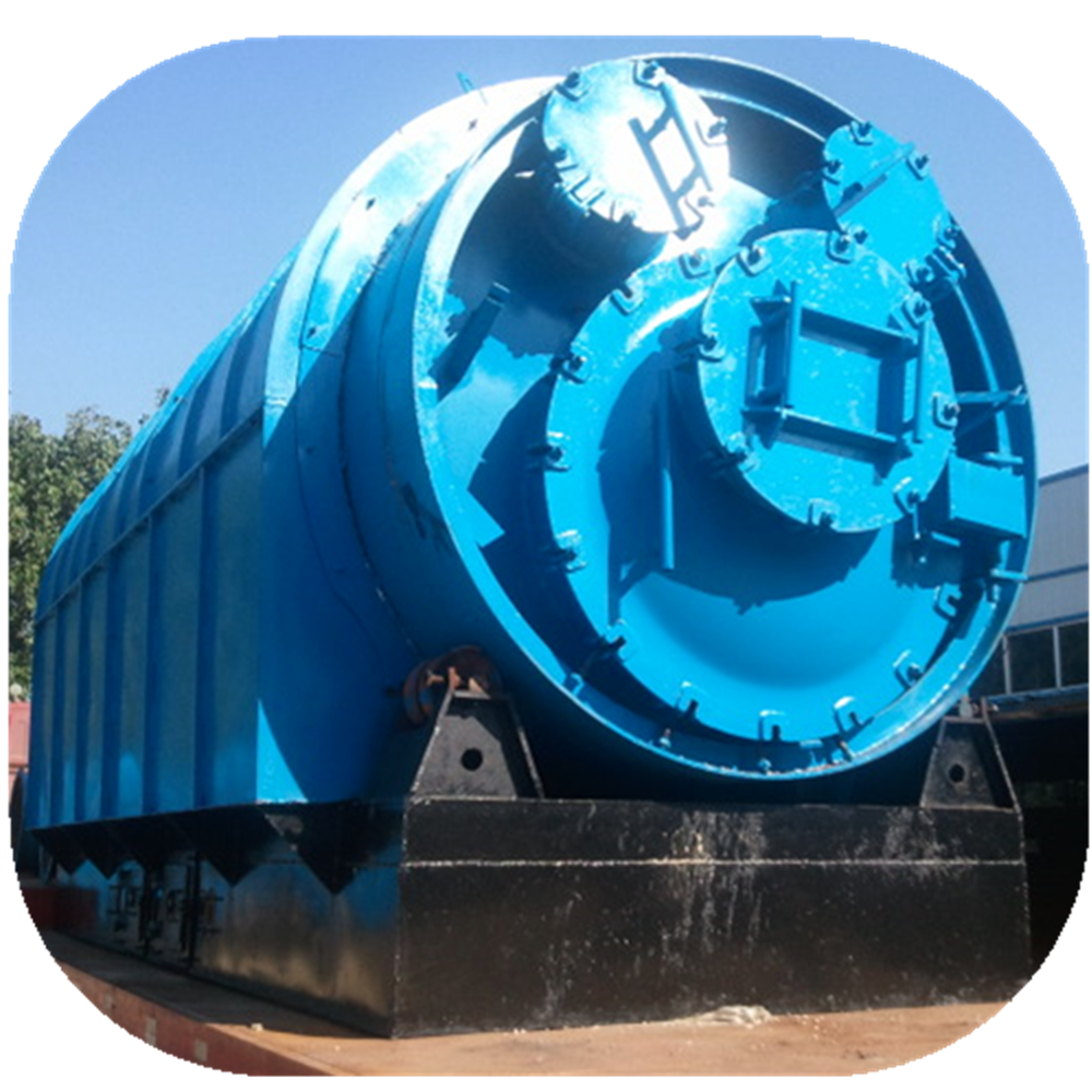 waste rubber oil refining machine by pyrolysis process