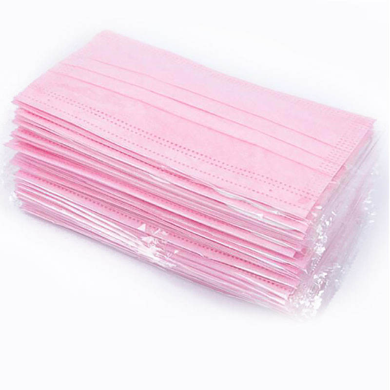 Anti-virus sanitary 3-ply Disposable Pink Medical Face Mask (pack of 10)