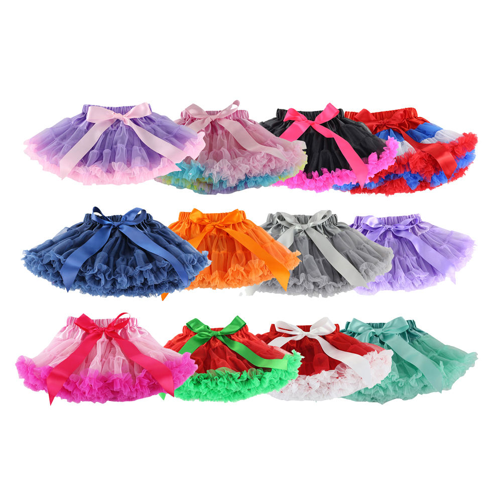 Wholesale Infant Baby Kids Satin Belt Cotton Ruffles Skirts in a Variety of Colors Children Infant Tutus Baby TUTU Skirt