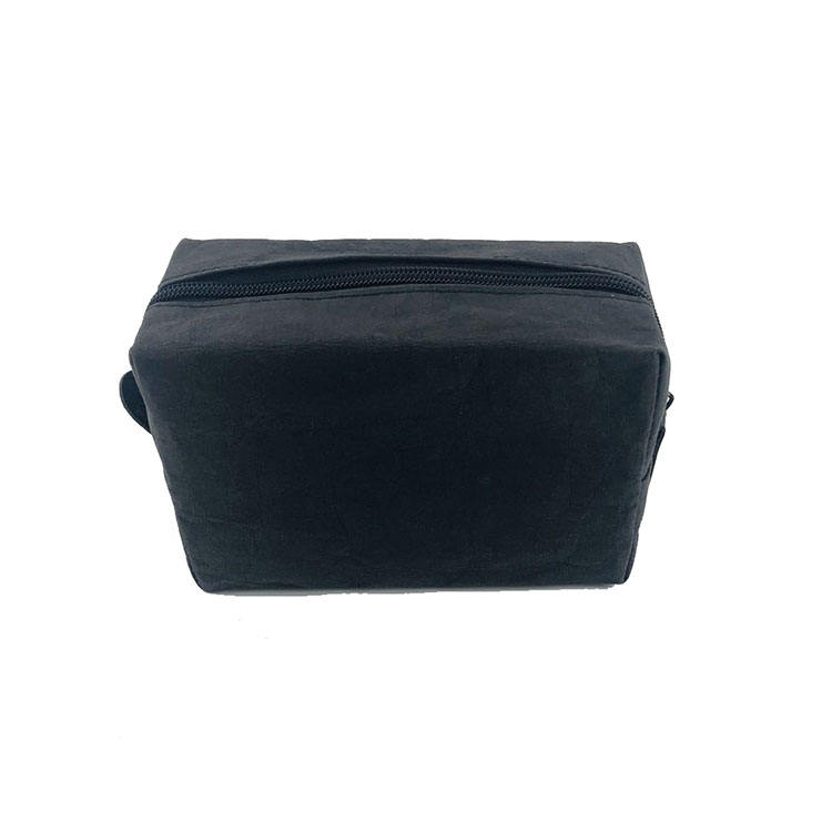 Travel Black washable kraft paper Fashion portable makeup bag Cosmetic bag Item Style Storage Pattern