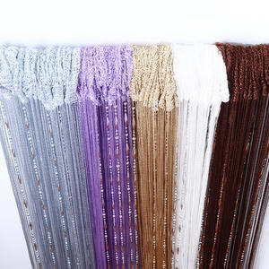 Bravo Polyester Thick Decorative Bead Window Door String Curtain Panel Supplier