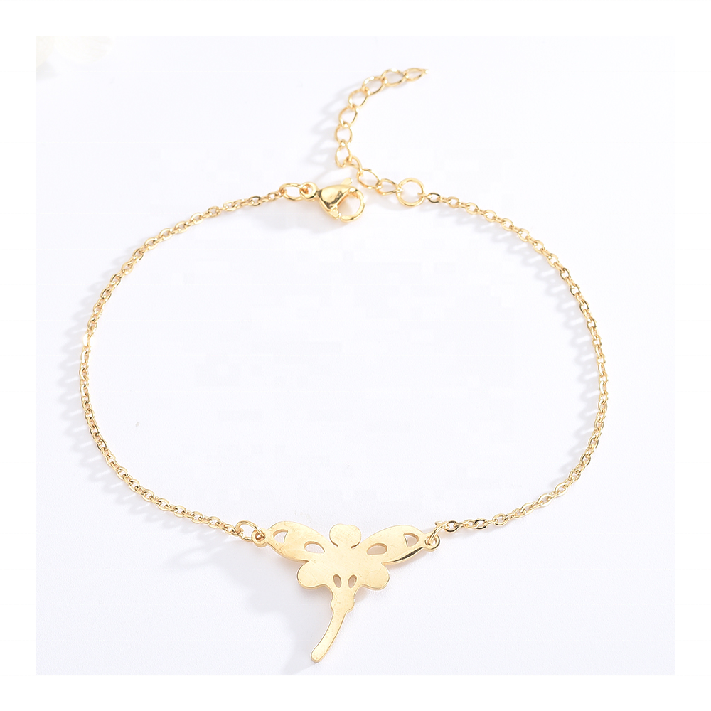 ST10037 Mewah Korea Fashion Butterfly Pesona Kristal Gelang Bangles Perhiasan Stainless Steel Perhiasan Set
