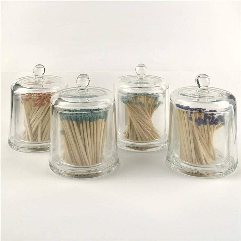 Colored match sticks matches Safety Match in Glass Apothecary Jar