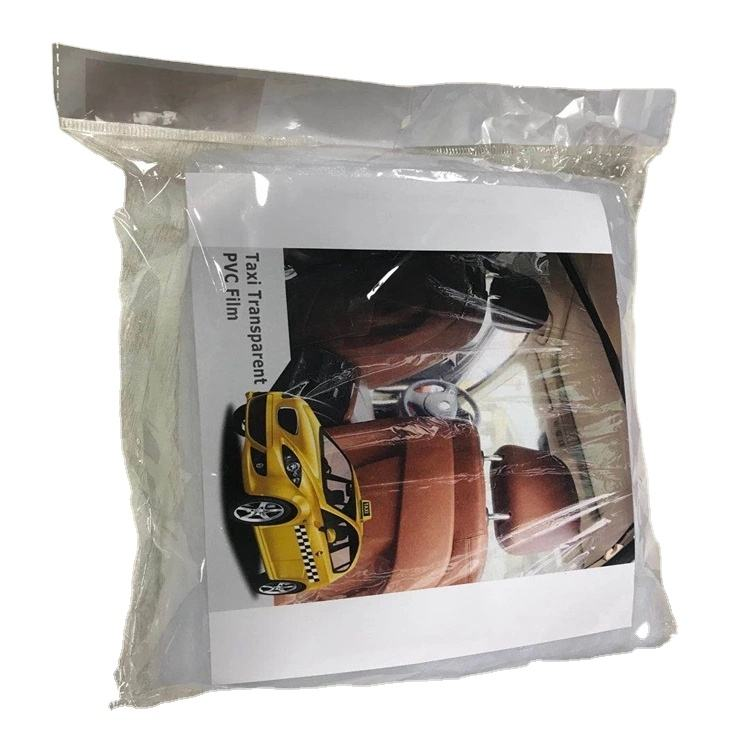 Taxi Partition Seat Cover Protection Film for Car Pvc Anti Fog Full Clear Plastic Self car isolation curtain