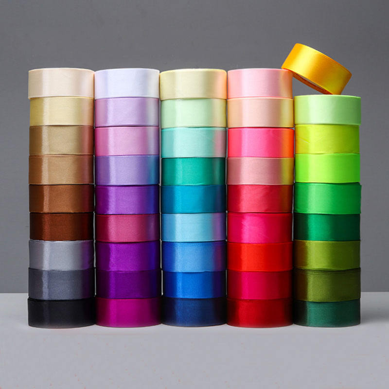 6mm 10mm 15mm 20mm 25mm 40mm 50mm Satin Ribbons White Pink Red Blue Purple Green Black Yellow Orange Ribbons 34 Colors