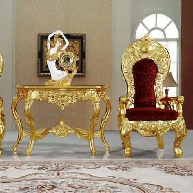 classical hotel furniture gold or silver king throne wedding chair