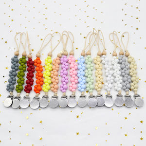 Silicone Pendant Teether Pacifier Clip Holder For Baby