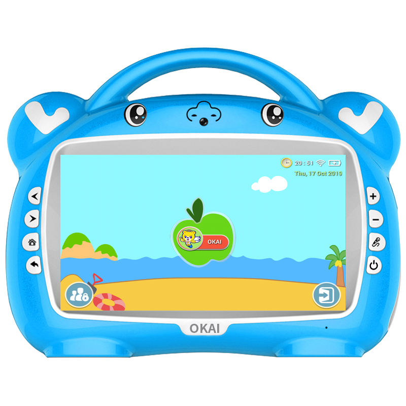 OKAI 9 inch touch screen Factory wholesale high quality benefits smart toys children learning toys puzzle leaning machine