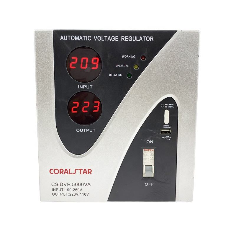CORALSTAR Top Quality Widespread Most Trustworthy Manufacturer 5000Va 5Kw Voltage Stabilizer Price List For Home