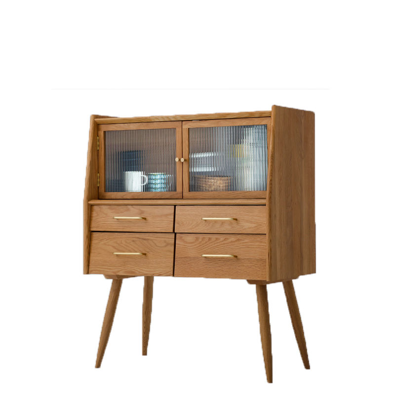 Made in China Nordic solid wood storage cabinet simple kitchen storage cabinet sitting room side cabinet factory price