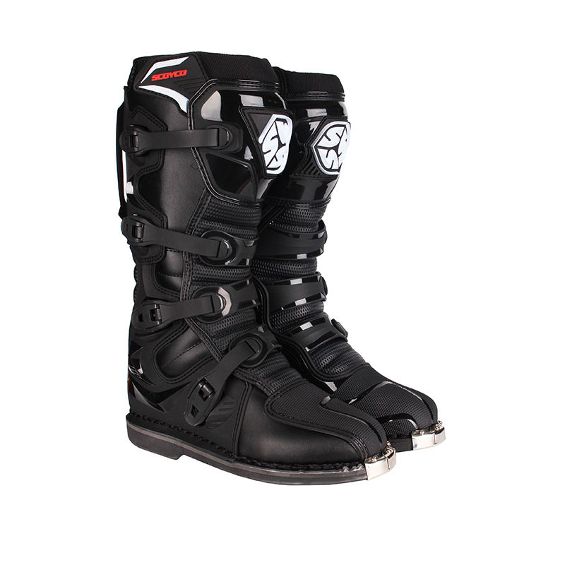SCOYCO motocross boots high level motocross boots CE boots Stitched- compound rubber grip outsole MBM006