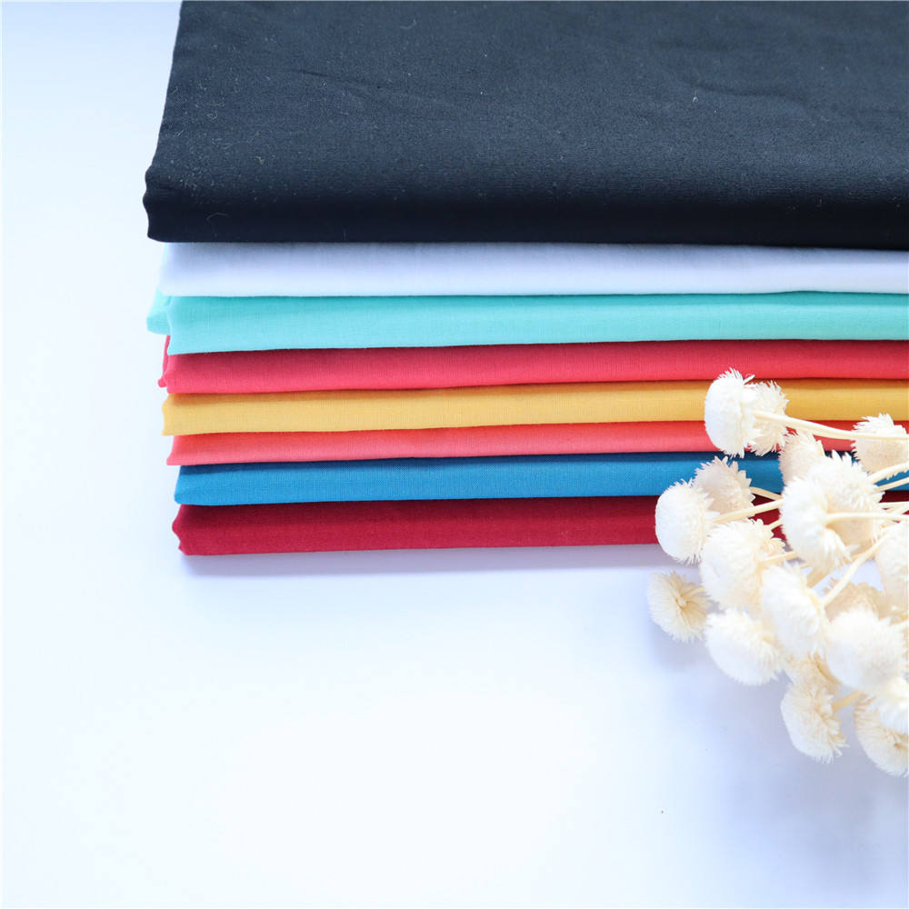 In stock soft material 100 pure breathable cotton fabric for shirt