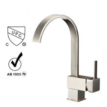 Pull down single hole kitchen faucet and water tap