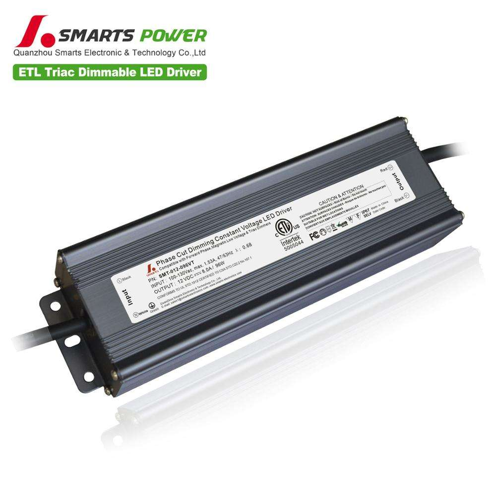 12 v intertek led drivers dimbare waterdichte met IP67 Metal Case led driver 96 w