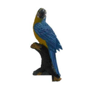 Resin crafts standing on branch parrot figurine for Garden Decoration or outdoor decoration