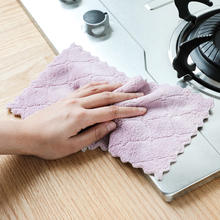 Micro fiber table kitchen towel Absorbent thicker cloth for cleaning Home microfiber towels for kitchen
