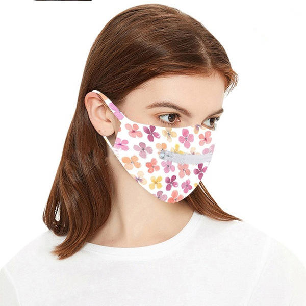 Wholesale cycling zipper face mask washable reusable zipper mouth mask and mask with zipper for drinking