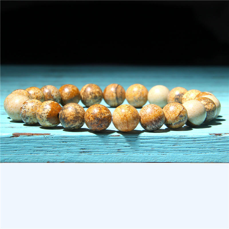 Best Selling Fashion DIY Simple Natural Stone Gemstone Punk Charm Lava Beaded Believe Bracelet For Women