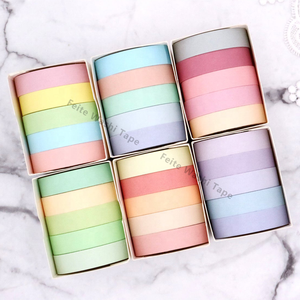 Decorative Rainbow Candy Color Japanese Sticky Paper Masking Tape Washi Tape