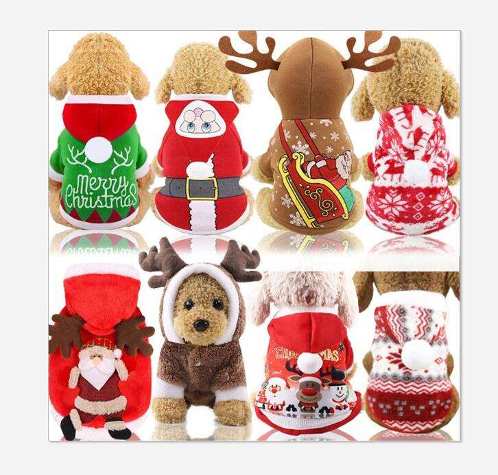 Hot sales with cheap price! four legs Christmas dog cat clothing Christmas pet costume wholesale