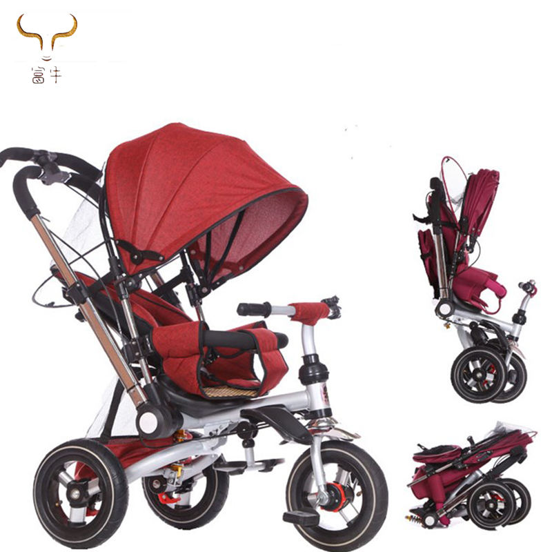 2019 hot baby tricycle online baby tricycle with light and music,baby tricycle with parent handle,baby tricycle with push handle