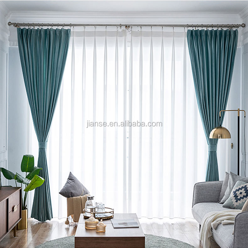 4.1.2 Turkey Hotel Style Ready Made Curtain Fabric Blackout Velour Curtain Fabrics For Luxury Velvet Fabrics Curtain